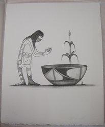 Charles Fredric Lovato (Kewa (Santo Domingo Pueblo), 1937-1987). <em>Untitled</em>, n.d. Lithograph on paper, sheet: 11 x 9 in. (27.9 x 22.9 cm). Brooklyn Museum, Gift of Martin Rotman, 82.255.22. © artist or artist's estate (Photo: Brooklyn Museum, CUR.82.255.22.jpg)