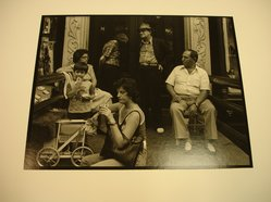 Victor Friedman (American, born 1930). <em>Group on Stoop in New York</em>, 1981. Gelatin silver photograph, image: 7 1/2 x 9 9/16 in. (19.1 x 24.3 cm). Brooklyn Museum, Gift of the artist, 83.76.4. © artist or artist's estate (Photo: Brooklyn Museum, CUR.83.76.4.jpg)