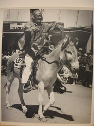 Grete Mannheim (American, born Germany, 1909-1986). <em>Navajo on Horse During Parade at Inter-tribal Ceremonial at Gallup, New Mexico, 1952</em>, 1952. Gelatin silver photograph, sheet: 10 × 8 in. (25.4 × 20.3 cm). Brooklyn Museum, Gift of Grete Mannheim, 84.232.1. © artist or artist's estate (Photo: Brooklyn Museum, CUR.84.232.1.jpg)