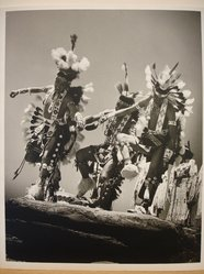 Grete Mannheim (American, born Germany, 1909-1986). <em>Three Navajo Dancers at Inter-tribal Ceremonial, Gallup, New Mexico, 1952</em>, 1952. Gelatin silver photograph, sheet: 10 × 8 in. (25.4 × 20.3 cm). Brooklyn Museum, Gift of Grete Mannheim, 84.232.6. © artist or artist's estate (Photo: Brooklyn Museum, CUR.84.232.6.jpg)