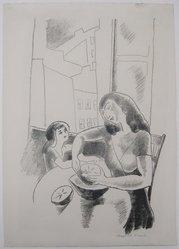Marguerite Thompson Zorach (American, 1887-1968). <em>Grapefruit</em>, ca. 1927. lithograph, Sheet: 16 x 11 3/8 in. (40.6 x 28.9 cm). Brooklyn Museum, Gift of the collection of the Zorach children, 84.45.8. © artist or artist's estate (Photo: Brooklyn Museum, CUR.84.45.8.jpg)