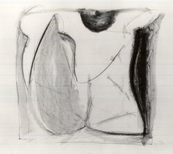 Bryan Hunt (American, born 1947). <em>Spanish Dancer</em>, 1985. Graphite and oil stick on paper, 22 x 29 5/8 in. (55.9 x 75.2 cm). Brooklyn Museum, Purchased with funds given by Roderick G. Baldwin and matching funds from Bank of America, 85.258. © artist or artist's estate (Photo: Brooklyn Museum, CUR.85.258.jpg)