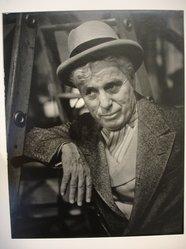 W. Eugene Smith (American, 1918-1978). <em>[Untitled] (Charlie Chaplin)</em>, 1952. Gelatin silver photograph, Sheet: 13 1/4 x 10 1/2 in. (33.7 x 26.7 cm). Brooklyn Museum, Gift of Philip Goutell, 87.245.24. © artist or artist's estate (Photo: Brooklyn Museum, CUR.87.245.24.jpg)