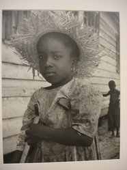 W. Eugene Smith (American, 1918-1978). <em>[Untitled] (Child with Straw Hat and Crutches)</em>, 1951. Gelatin silver photograph, Sheet: 10 1/2 x 13 1/2 in. (26.7 x 34.3 cm). Brooklyn Museum, Gift of Philip Goutell, 87.245.4. © artist or artist's estate (Photo: Brooklyn Museum, CUR.87.245.4.jpg)