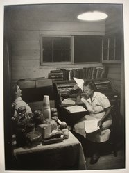 W. Eugene Smith (American, 1918-1978). <em>[Untitled] (Maud Callen at Desk)</em>, 1951. Gelatin silver photograph, Sheet: 13 7/8 x 10 7/8 in. (35.2 x 27.6 cm). Brooklyn Museum, Gift of Philip Goutell, 87.245.6. © artist or artist's estate (Photo: Brooklyn Museum, CUR.87.245.6.jpg)
