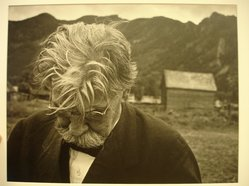 W. Eugene Smith (American, 1918-1978). <em>[Untitled] (Albert Schweitzer)</em>, 1954. Gelatin silver photograph, Sheet: 11 x 13 7/8 in. (27.9 x 35.2 cm). Brooklyn Museum, Gift of Philip Goutell, 87.245.66. © artist or artist's estate (Photo: Brooklyn Museum, CUR.87.245.66.jpg)