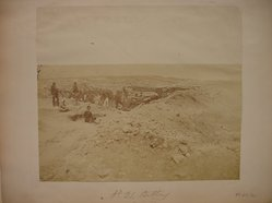 James Robertson (British, 1813-1888). <em>No. 21 Battery, Crimea</em>, ca.1853-1854. Salt print, 8 1/2 x 9 3/4 in. (21.6 x 24.8 cm). Brooklyn Museum, Gift of Alan Schlussel, 88.211.2. © artist or artist's estate (Photo: Brooklyn Museum, CUR.88.211.2.jpg)