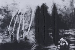 Paul Benney (British, born 1959). <em>Untitled</em>, 1987. Ink-ground etching with aquatint and spit bite and tearing, Sheet: 31 x 42 in. (78.7 x 106.7 cm). Brooklyn Museum, Gift of Lawrence and Carol Zicklin, 88.212.1. © artist or artist's estate (Photo: Image courtesy of the artist, CUR.88.212.1_artist_photograph.jpg)