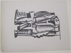 Hananiah Harari (American, 1912-2000). <em>[Untitled]</em>, 1937. Off-set lithograph on off-white wove paper, sheet: 11 15/16 x 9 3/16 in. (30.4 x 23.3 cm). Brooklyn Museum, Purchased with funds given by an anonymous donor, 88.54.12. © artist or artist's estate (Photo: Brooklyn Museum, CUR.88.54.12.jpg)
