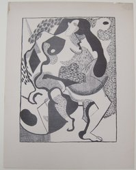 Ray Kaiser (American). <em>[Untitled]</em>, 1937. Off-set lithograph on off-white wove paper, sheet: 12 1/16 x 9 1/4 in. (30.6 x 23.5 cm). Brooklyn Museum, Purchased with funds given by an anonymous donor, 88.54.14. © artist or artist's estate (Photo: Brooklyn Museum, CUR.88.54.14.jpg)