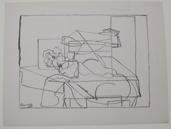 M. Kennedy (American). <em>[Untitled]</em>, 1937. Off-set lithograph on off-white wove paper, sheet: 9 3/16 x 11 15/16 in. (23.4 x 30.4 cm). Brooklyn Museum, Purchased with funds given by an anonymous donor, 88.54.16. © artist or artist's estate (Photo: Brooklyn Museum, CUR.88.54.16.jpg)