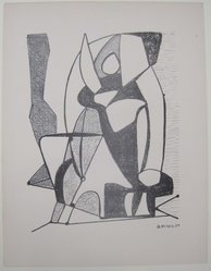 George McNeil (American, 1908-1995). <em>[Untitled]</em>, 1937. Off-set lithograph on paper, sheet: 12 x 9 5/16 in. (30.5 x 23.6 cm). Brooklyn Museum, Purchased with funds given by an anonymous donor, 88.54.19. © artist or artist's estate (Photo: Brooklyn Museum, CUR.88.54.19.jpg)