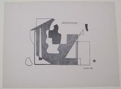 Ilya Bolotowsky (American, born Russia, 1907-1981). <em>[Untitled]</em>, 1937. Off-set lithograph on wove paper, sheet: 9 3/8 x 12 in. (23.8 x 30.5 cm). Brooklyn Museum, Purchased with funds given by an anonymous donor, 88.54.2. © artist or artist's estate (Photo: Brooklyn Museum, CUR.88.54.2.jpg)