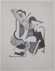 John Opper (American, 1908-1994). <em>[Untitled]</em>, 1937. Off-set lithograph on off-white wove paper, sheet: 11 15/16 x 9 1/4 in. (30.4 x 23.5 cm). Brooklyn Museum, Purchased with funds given by an anonymous donor, 88.54.22. © artist or artist's estate (Photo: Brooklyn Museum, CUR.88.54.22.jpg)