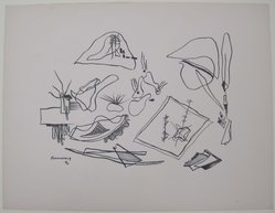 Mr. Ralph M. Rosenborg (American, 1913-1992). <em>[Untitled]</em>, 1937. Off-set lithograph on off-white wove paper, sheet: 9 5/16 x 12 1/16 in. (23.6 x 30.6 cm). Brooklyn Museum, Purchased with funds given by an anonymous donor, 88.54.23. © artist or artist's estate (Photo: Brooklyn Museum, CUR.88.54.23.jpg)