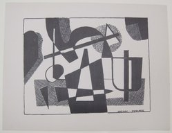 Vaclav Vytlacil (American, 1893-1984). <em>[Untitled]</em>. Off-set lithograph on wove paper, sheet: 9 3/16 x 12 in. (23.4 x 30.5 cm). Brooklyn Museum, Purchased with funds given by an anonymous donor, 88.54.29. © artist or artist's estate (Photo: Brooklyn Museum, CUR.88.54.29.jpg)