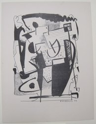 Wilfrid M. Zogbaum (American, 1915-1965). <em>[Untitled]</em>, 1937. Off-set lithograph on wove paper, sheet: 12 x 9 1/8 in. (30.5 x 23.2 cm). Brooklyn Museum, Purchased with funds given by an anonymous donor, 88.54.31. © artist or artist's estate (Photo: Brooklyn Museum, CUR.88.54.31.jpg)
