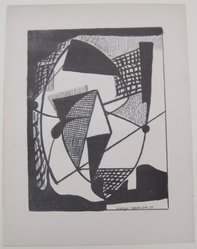 Georgio Cavallon (American, born Italy, 1904-1989). <em>[Untitled]</em>, 1937. Off-set lithograph on wove paper, sheet: 12 x 9 1/8 in. (30.5 x 23.2 cm). Brooklyn Museum, Purchased with funds given by an anonymous donor, 88.54.5. © artist or artist's estate (Photo: Brooklyn Museum, CUR.88.54.5.jpg)