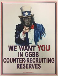 Guerrilla Girls BroadBand, Inc., (established United States, 2001). <em>We Want You in GGBB Counter-Recruiting Reserves</em>, 2008. Offset lithograph, 17 × 11 in. (43.2 × 27.9 cm). Brooklyn Museum, Gift of Guerrilla Girls BroadBand, Inc., 2018.6.1. © artist or artist's estate (Photo: , CUR.TL2017.36.60.jpg)