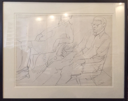 Philip Pearlstein (American, born 1924). <em>Study for Portrait of Linda Nochlin and Richard Pommer</em>, 1968. Graphite on paper, frame (approx.): 20 × 24 × 1 1/2 in. (50.8 × 61 × 3.8 cm). Brooklyn Museum, Gift of the Estate of Linda Nochlin Pommer, 2018.20.1. © artist or artist's estate (Photo: , CUR.TL2018.12.1.jpg)