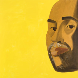 Alex Katz (American, born 1927). <em>Arthur 1</em>, 2017. Oil on linen, 96 × 96 in. (243.8 × 243.8 cm). Brooklyn Museum, Gift of the artist, 2018.10. © artist or artist's estate (Photo: Photo courtesy Alex Katz, CUR.TL2018.22_AlexKatz_photograph.jpg)