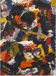 Al Held (American, 1928-2005). <em>Untitled</em>, 1958. Oil on canvas, Canvas: 60 3/4 × 44 1/2 × 2 in. (154.3 × 113 × 5.1 cm). Brooklyn Museum, Gift of the Alex Katz Foundation, 2018.46.2. © artist or artist's estate (Photo: Image courtesy Alex Katz Foundation, CUR.TL2018.61.2_AlexKatzFoundation_photograph.jpg)