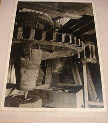 Samuel H. Gottscho (American, 1875-1971). <em>Windmill at Hayground, L.I., Interior, 1st Story</em>, 1930. Gelatin silver photograph, image: 10 1/2 x 7 1/2 in. (26.7 x 19.1 cm). Brooklyn Museum, Brooklyn Museum Collection, X894.133. © artist or artist's estate (Photo: Brooklyn Museum, CUR.X894.133.jpg)