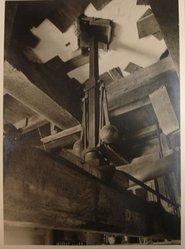 Samuel H. Gottscho (American, 1875-1971). <em>Windmill at Hayground, L.I., Detail of Governor & Millstone</em>, 1930. Gelatin silver photograph, image: 10 1/2 x 7 1/2 in. (26.7 x 19.1 cm). Brooklyn Museum, Brooklyn Museum Collection, X894.134. © artist or artist's estate (Photo: Brooklyn Museum, CUR.X894.134.jpg)