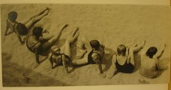 Theodor Jung (American, born Austria, 1906-1996). <em>[Untitled] (Six Bathers)</em>, late 1930s. Gelatin silver photograph, 3 7/8 × 8 in. (9.8 × 20.3 cm). Brooklyn Museum, Brooklyn Museum Collection, X894.72. © artist or artist's estate (Photo: Brooklyn Museum, CUR.X894.72.jpg)