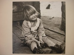 Theodor Jung (American, born Austria, 1906-1996). <em>[Untitled] (Child on Porch)</em>, n.d. Gelatin silver photograph, 7 1/2 × 7 5/8 in. (19.1 × 19.4 cm). Brooklyn Museum, Brooklyn Museum Collection, X894.74. © artist or artist's estate (Photo: Brooklyn Museum, CUR.X894.74.jpg)