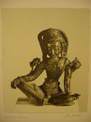 Herman de Wetter (American, born Estonia, 1880-1950). <em>Bronze Figure</em>, n.d. Gelatin silver photograph, comp.: 9 x 7 1/2 in. (22.9 x 19.1 cm). Brooklyn Museum, Brooklyn Museum Collection, X894.92. © artist or artist's estate (Photo: Brooklyn Museum, CUR.X894.92.jpg)