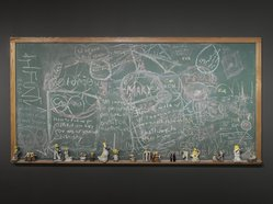 The Bruce High Quality Foundation. <em>Public Education (Leave Me Alone)</em>, 2013. Chalkboard, mixed media, 48 x 96 x 3 in. (121.9 x 243.8 x 7.6 cm). Brooklyn Museum, Gift of Vito Schnabel in honor of Arnold Lehman, 2015.18. © artist or artist's estate (Photo: Brooklyn Museum, DIG_E_2013_Bruce_High_Quality_Foundation_Ode_to_Joy_032_PS4_2015.18.jpg)