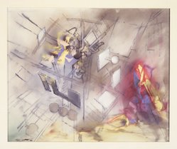 Roberto Matta (Chilean, 1911-2002). <em>Composition</em>, late 1950s. Oil on canvas, 23 x 28 1/4 in. Brooklyn Museum, Gift of The Beatrice and Samuel A. Seaver Foundation, 2004.30.14. © artist or artist's estate (Photo: Brooklyn Museum, L1993.4.17_transpc005.jpg)