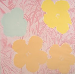 Andy Warhol (American, 1928-1987). <em>Flowers</em>, 1970. Screenprint in colors, sheet: 36 x 36 in. Brooklyn Museum, Gift of The Beatrice and Samuel A. Seaver Foundation, 2004.48.11. © artist or artist's estate (Photo: Brooklyn Museum, L1993.5.11.jpg)