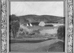L. Murman. <em>Painting</em>. Oil on canvas, 15 x 16 in. (38.1 x 40.6 cm). Brooklyn Museum, Brooklyn Museum Collection, X770 (Photo: Brooklyn Museum, X770_framed_bw.jpg)