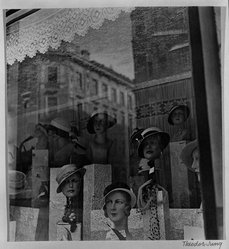 Theodor Jung (American, born Austria, 1906-1996). <em>[Untitled] (Store Window)</em>, n.d. Gelatin silver photograph, 7 1/2 × 6 7/8 in. (19.1 × 17.5 cm). Brooklyn Museum, Brooklyn Museum Collection, X894.73. © artist or artist's estate (Photo: Brooklyn Museum, X894.73_bw.jpg)