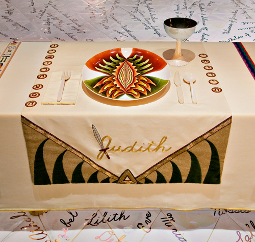 judy chicago the dinner party meaning